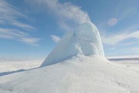 Ледяной вулкан в Казахстане